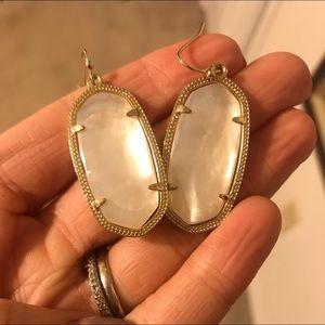 LIKE NEW Kendra Scott White Earrings